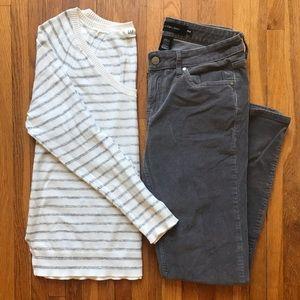Lightweight GAP cotton striped sweater